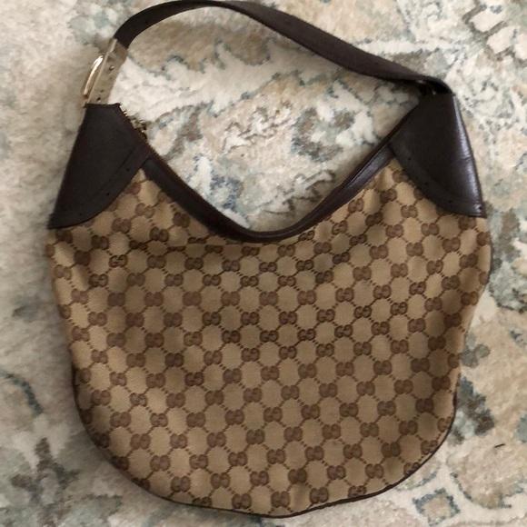 f3e1aa5de114c3 Gucci Handbags - Gucci shoulder bag , monogram canvas and leather